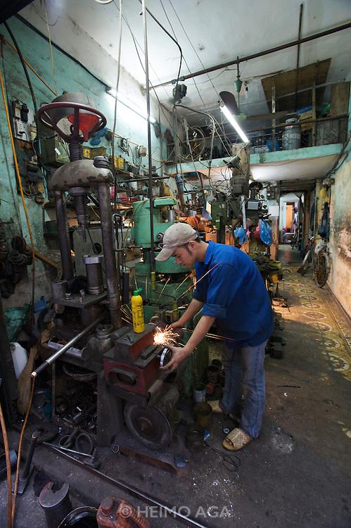 Old Town. A metal workshop.