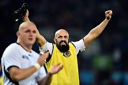 Viorel Lucaci of Romania celebrates after the match - Mandatory byline: Patrick Khachfe/JMP - 07966 386802 - 06/10/2015 - RUGBY UNION - Leicester City Stadium - Leicester, England - Canada v Romania - Rugby World Cup 2015 Pool D.