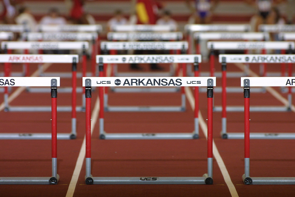 SEC Indooor Championships at University of Arkansas in Fayetteville<br /> Photos by Wesley  Hitt<br /> &copy;Wesley Hitt/U of ArkansasUniversity of Arkansas Razorback Track and Field Team action photography during the 2001-2002 season.