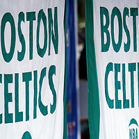 01 June 2012: Celtics championships banners hang in the rafters during the Boston Celtics 101-91 victory over the Miami Heat, in Game 3 of the Eastern Conference Finals playoff series, at the TD Banknorth Garden, Boston, Massachusetts, USA.