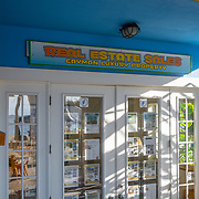 Colorful Real Estate office in Kaibo Beach. Grand Cayman Island.