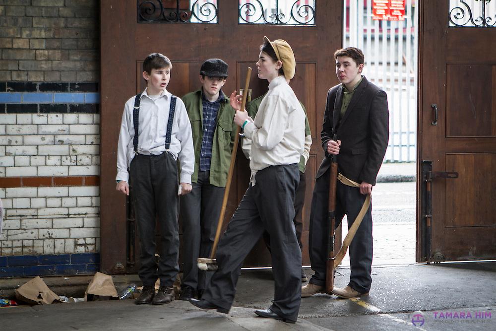 Performance for the 1916 Rising Centenary. Dublin. Smithfield market Dublin.©Tamara Him.