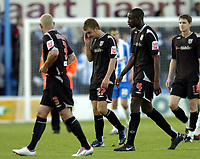 Photo: Olly Greenwood.<br />Colchester United v West Bromwich Albion. Coca Cola Championship. 20/10/2007. West Brom's James Morrison lkooks dejected at the end of the game with Paul Robinson and Leon Barnett