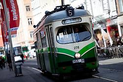 13.03.2012, Graz, AUT, Feature, im Bild eine Strassenbahn der GVB Linie 5 Richtung Puntigam, EXPA Pictures © 2012, PhotoCredit: EXPA/ Erwin Scheriau