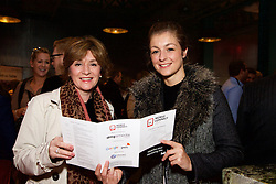 29/10/2015<br /> IAB Conference at the Guinness Storehouse.<br /> (l-r):<br /> Deirdre O'Brien (Powerscourt Hotel) and <br /> Laura Dunne (Powerscourt Hotel).