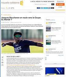 Jacques Boucheron, Nouvelles Calédonie 1ere, 2016.