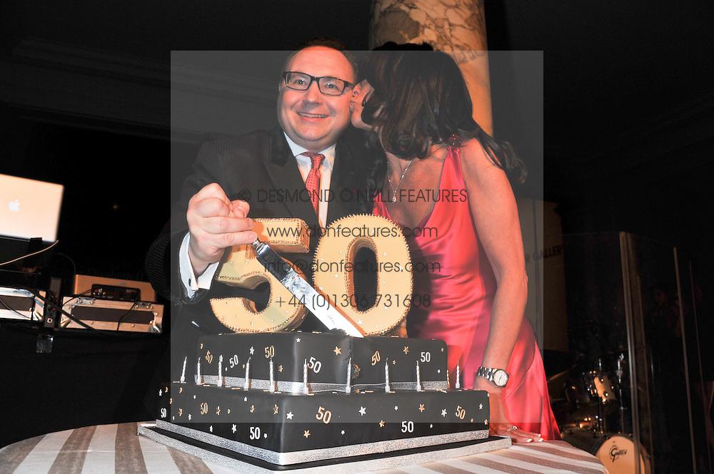 JONATHAN SHALIT and KATRINA SHALIT at the 50th birthday party for Jonathan Shalit held at the V&A Museum, London on 17th April 2012.
