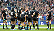 Twickenham, United Kingdom, New Zealand gather during and England penalty kick,  2013 QBE  AutumnRugby International, England vs New Zealand, played  Saturday  16/11/2013 at the RFU Stadium Twickenham, England. [Mandatory Credit: Peter Spurrier/Intersport<br /> Images}