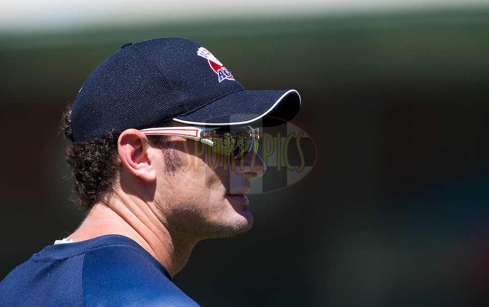 Kyle Mills looks on during the Auckland Aces practice session held a Kingsmead Stadium in Durban on the 18th October 2012..Photo by Rogan Ward/SPORTZPICS/CLT20