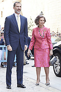 Spanish Royals attended the Easter Mass - 16 April 2017