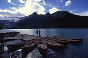 Canoes, Lake Louise, Banff National Park, Alberta, Canada<br />