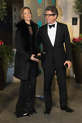 Photo Must Be Credited ©Alpha Press<br /> Hugh Grant and girlfriend Anna Eberstein arrive at the EE British Academy Film Awards after party dinner at the Grosvenor House Hotel in London.