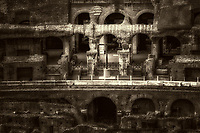 """The glow of the Holy Cross in the ruins of the Colosseum - BW""…<br />