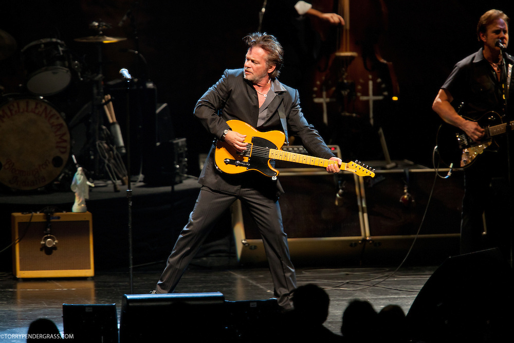"John Mellencamp performs on April 8, 2011 in support of ""No Better Than This"" at Nokia Theatre in Los Angeles, California"