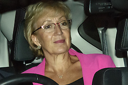 © Licensed to London News Pictures. 10/09/2019. London, UK. Andrea Leadsom, Secretary of State for Business, Energy and Industrial Strategy. Minsters leave Parliament after a late sitting in which the government lost a vote to trigger a snap election. Parliament will be now be prorogued, suspended until October 14. Photo credit: Guilhem Baker/LNP