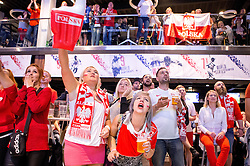 Poland fans cheer as they watch their nations fixture with Germany on the big screen in the Sports Bar and Grill at Ashton Gate - Mandatory by-line: Robbie Stephenson/JMP - 16/06/2016 - FOOTBALL - Ashton Gate - Bristol, United Kingdom  - Germany vs Poland - UEFA Euro 2016