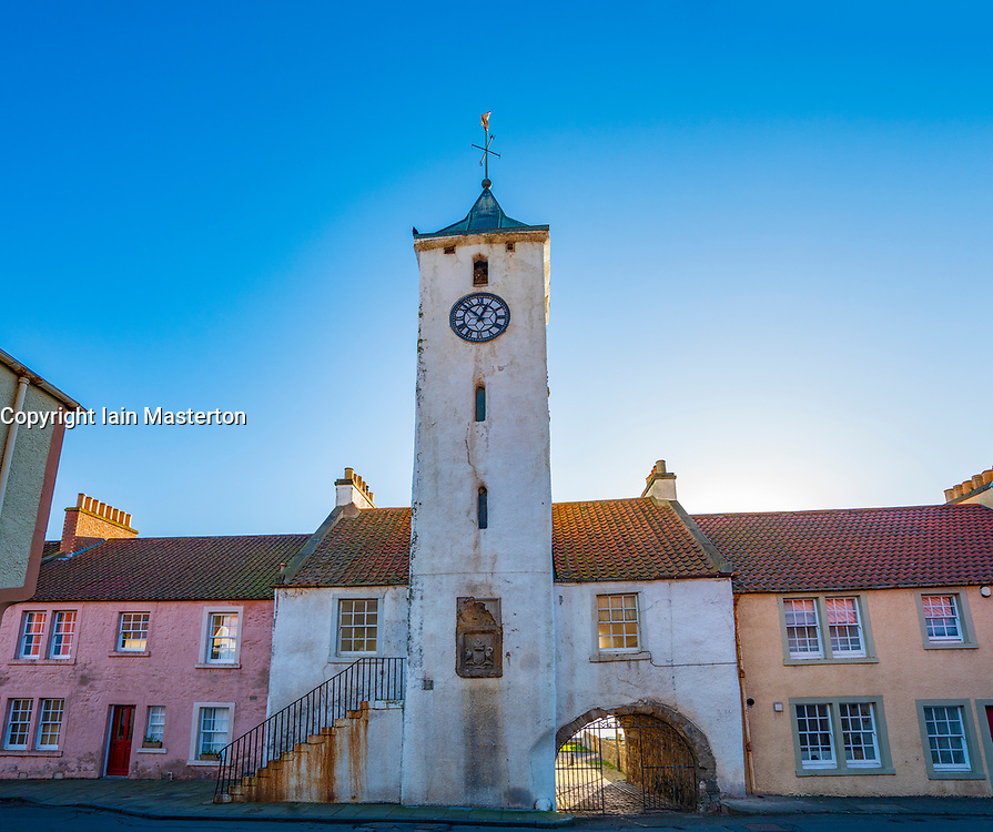 View of historic Tollbooth in West Wemyss in Fife , Scotland UK