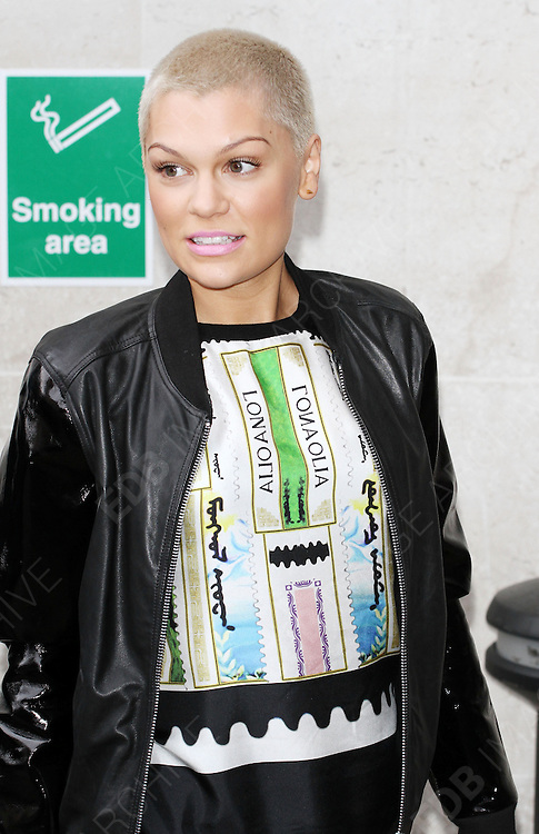 21.JUNE.2013. LONDON<br /> <br /> JESSIE J ARRIVING AT THE BBC RADIO ONE STUDIO IN LONDON, UK.<br /> <br /> BYLINE: EDBIMAGEARCHIVE.CO.UK<br /> <br /> *THIS IMAGE IS STRICTLY FOR UK NEWSPAPERS AND MAGAZINES ONLY*