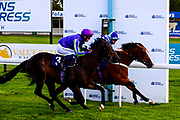 Bay Watch ridden by Charles Bishop and trained by Tracey Barfoot-Saunt wins the Patent Paradise At Valuerater.co.uk Handicap - Mandatory by-line: Dougie Allward/JMP - 10/07/2020 - HORSE RACING - Bath Racecourse - Bath, England - Bath Races
