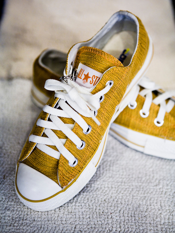 Converse All-Stars made with Doi Tung fabric.