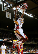 Syracuse recruit Donta Green goes up for a slam dunk during action in the McDonald's All American High School Basketball Team games at Freedom Hall in Louisville, Kentucky on March 28, 2007.