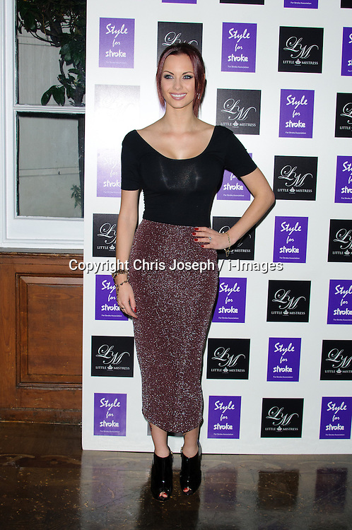 Jessica Jane Clement at Style for Stroke - launch party held at No. 5 Cavendish Square, London, England, October 2, 2012. Photo by Chris Joseph / i-Images.