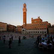 Plazza del Campo, in the medieval city of Siena, Toscana. Italy.