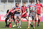 Jake Bibby for Salford Redsduring the Betfred Super League match between Salford Red Devils and Catalan Dragons at the AJ Bell Stadium, Eccles, United Kingdom on 30 March 2018. Picture by George Franks.