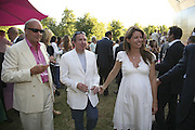 Nicholas Coleridge, Mark Booth and Lauren Booth, The Summer Party sponsored by Yves St. Laurent. Serpentine Gallery. 11 July 2006. . ONE TIME USE ONLY - DO NOT ARCHIVE  © Copyright Photograph by Dafydd Jones 66 Stockwell Park Rd. London SW9 0DA Tel 020 7733 0108 www.dafjones.com