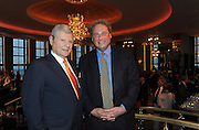 Tishman Speyer CEO Jerry Speyer, left, and New York Yankees president Randy Levine attend the opening of the historic Rainbow Room at 30 Rockefeller Plaza, Wednesday, Oct. 1, 2014 in New York. (Photo by Diane Bondareff/Invision for Tishman Speyer/AP Images)