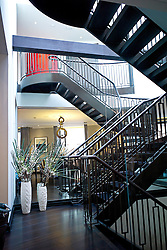 **Home supplement** © Ben Cawthra. 22/01/2013. The staircase of the penthouse apartment of The Lansbury, on Basil Street, London, recently refurbished in to 6 luxury apartments opposite Harrods in central London. Photo credit: Ben Cawthra.