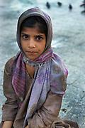 Muslim girl at the Shah Hamdan Shrine.