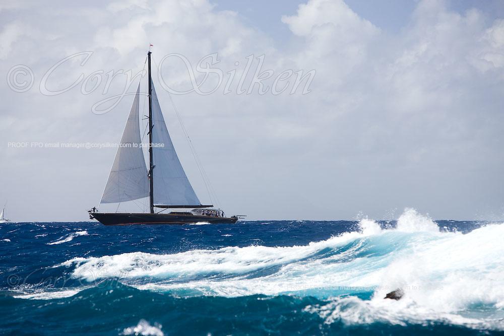 Tenacious racing at the Superyacht Cup Regatta.
