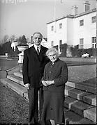 President Eamon de Valera and Mrs. de Valera celebrate their Golden Wedding Anniversary at Áras an Uachtarain..07.01.1960