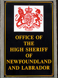 CANADA NEWFOUNDLAND ST JOHN'S 24JUN11 - Office of the High Sheriff of Newfoundland and Labrador sign in St. John's, Newfoundland, Canada... ...jre/Photo by Jiri Rezac..© Jiri Rezac 2011