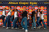 VILLIERSDORP, SOUTH AFRICA - Local kids peform during stage one of the Absa Cape Epic Mountain Bike Stage Race held between Gordon's Bay and Villiersdorp on the 22 March 2009 in the Western Cape, South Africa..Photo by Nick Muzik  /SPORTZPICS