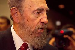 Fidel Castro, President of Cuba, speaks to the press in Havana, Cuba on Thursday, August 23rd, 2001. (Photo © Jock Fistick)