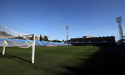 General view of the stadium at the Football Association of Montenegro, Podgorica.