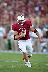 September 19, 2009; Stanford, CA, USA;  Stanford Cardinal running back Toby Gerhart (7) rushes up field during the first quarter against the San Jose State Spartans at Stanford Stadium. Stanford defeated San Jose State 42-17. Mandatory Credit: Jason O. Watson-US PRESSWIRE