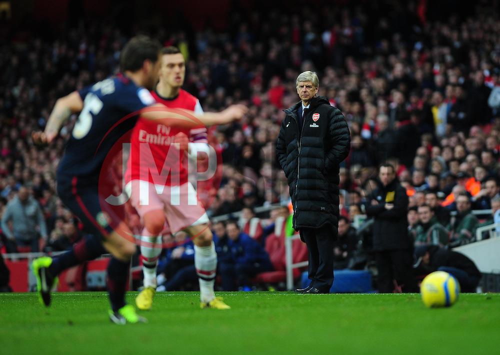 Arsenal Manger, Arsene Wenger - Photo mandatory by-line: Dougie Allward/JMP - Tel: Mobile: 07966 386802 16/02/2013 - SPORT - FOOTBALL - Emirates Stadium - London -  Arsenal V Blackburn Rovers - FA Cup - Fifth Round