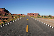 US-MEXICAN HAT: Empty road to Monument Valley. PHOTO: GERRIT DE HEUS