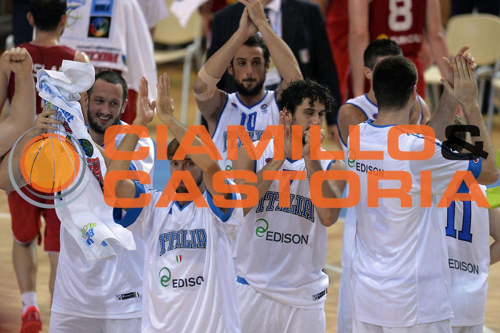 DESCRIZIONE : Capodistria Koper Slovenia Eurobasket Men 2013 Preliminary Round Italia Turchia Italy Turkey<br /> GIOCATORE : Team <br /> CATEGORIA : Esultanza<br /> SQUADRA : Italia<br /> EVENTO : Eurobasket Men 2013<br /> GARA : Italia Turchia Italy Turkey<br /> DATA : 05/09/2013<br /> SPORT : Pallacanestro&nbsp;<br /> AUTORE : Agenzia Ciamillo-Castoria/GiulioCiamillo<br /> Galleria : Eurobasket Men 2013 <br /> Fotonotizia : Capodistria Koper Slovenia Eurobasket Men 2013 Preliminary Round Italia Turchia Italy Turkey<br /> Predefinita :