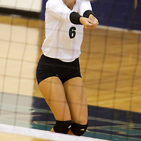 UNCW's Morgan Owney returns a serve against Eastern Washington in the Hilton Garden Inn Wilmington Mayfaire Classic Sunday August 31, 2014 at Hanover Hall in Wilmington, N.C. (Jason A. Frizzelle)