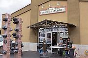 Santa Fe Farmers Market in the historic district December 12, 2015 in Santa Fe, New Mexico.