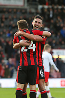 Football - 2017 / 2018 Premier League - AFC Bournemouth vs. Southampton<br /> <br /> Bournemouth's Andrew Surman celebrates with goalscorer Bournemouth's Ryan Fraser at Dean Court (Vitality Stadium) Bournemouth <br /> <br /> COLORSPORT/SHAUN BOGGUST