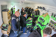 The new FGR club shop during the EFL Sky Bet League 2 match between Forest Green Rovers and Cheltenham Town at the New Lawn, Forest Green, United Kingdom on 20 October 2018.