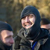St Johnstone Manager Steve Lomas takes his players Go-Karting....<br /> Lee Croft all smiles after completing his first race.<br /> Picture by Graeme Hart.<br /> Copyright Perthshire Picture Agency<br /> Tel: 01738 623350  Mobile: 07990 594431