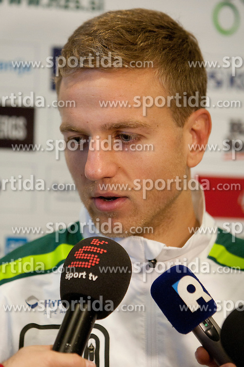 Ales Mertelj during the Slovenia training before friendly match between National teams of Slovenia and ZDA at Kidricevo, on  9th November, 2011 in Ptuj, Slovenia (Photo by Urban Urbanc / Sportida Photo Agency)