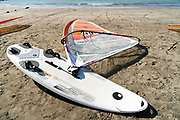 windsurf board on the beach in Kamakura Japan