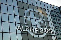 General View of the Alpha Bank Group in the  Avenue in Athens. Photo By Imago/ i-Images